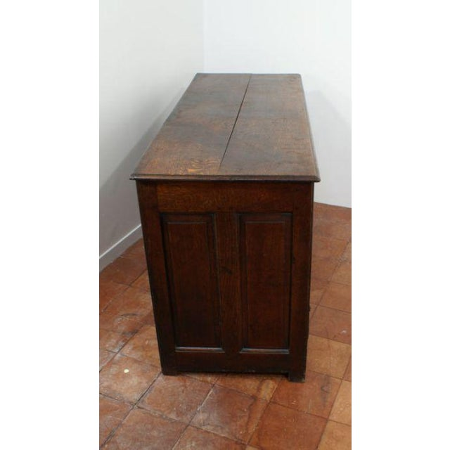Mid 18th Century Mid 18th Century George II Oak Paneled Mule Chest For Sale - Image 5 of 5