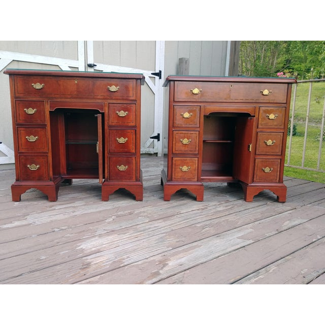 Chestnut Hickory Chair Mahogany Mount Vernon Bureau Tables - a Pair For Sale - Image 8 of 13