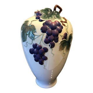 "Wei Xuet Mei ""May"" for the Franz Porcelain Collections Grape Harvest Vase For Sale"