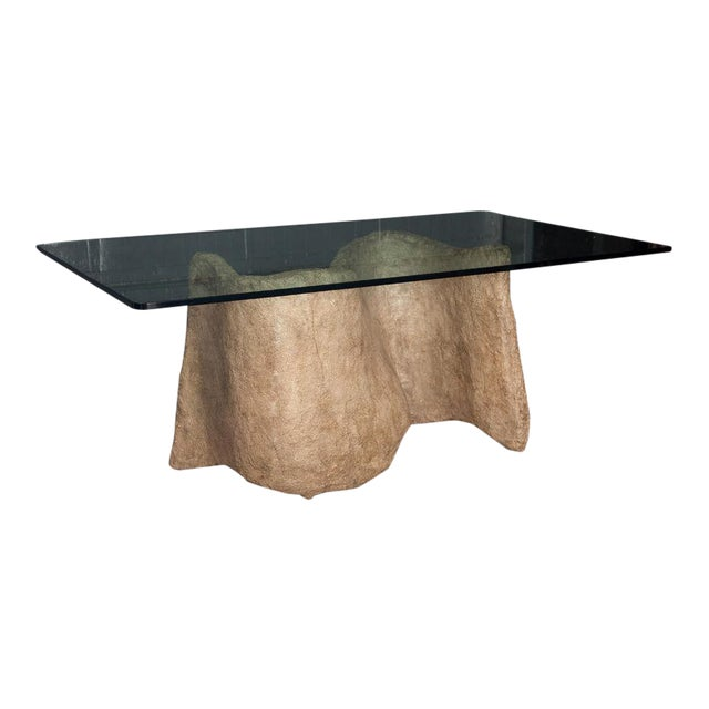 Silas Seandel Faux Cast Stone Miro Dining Table For Sale
