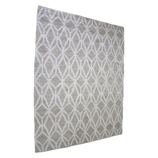 New Modern Wool and Natural Fiber Rug For Sale