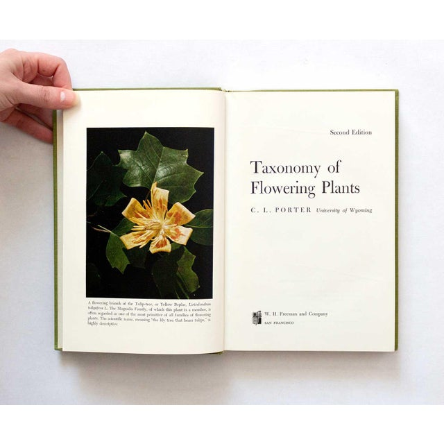 Excellent condition copy of Taxonomy of Flowering Plants. Second edition, clean with no notes or marks inside. Beautiful...