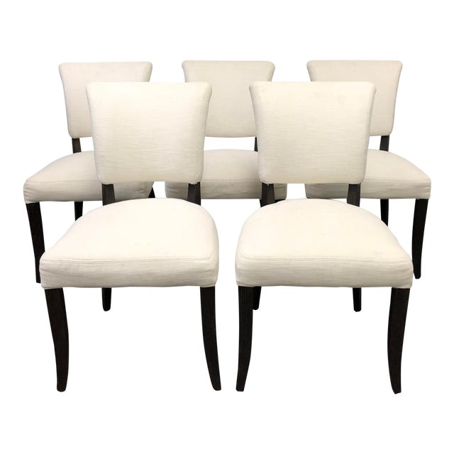Set of Five Restoration Hardware Adèle Fabric Side Chairs For Sale