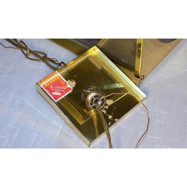Gold 1970s Fredrick Ramond Post Modern Lantern Chrome & Brass Light Fixture For Sale - Image 8 of 13