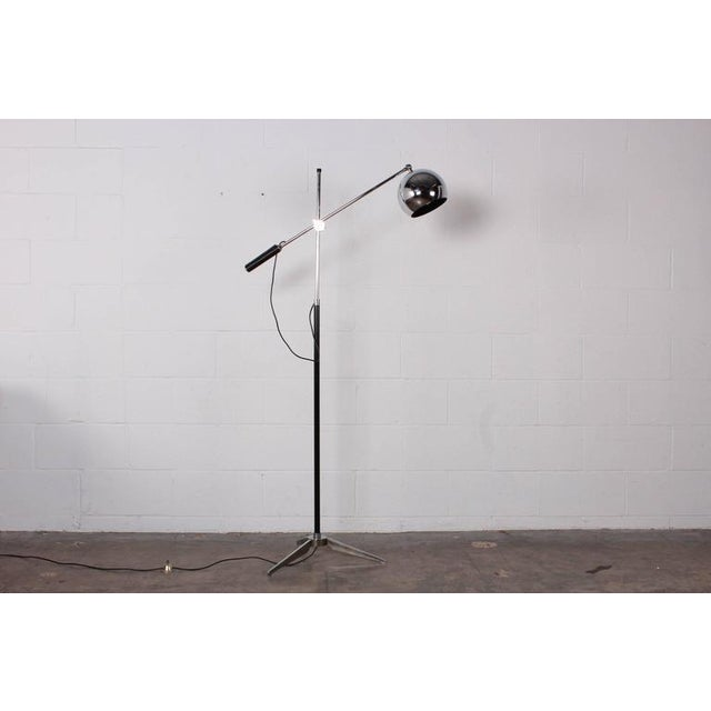 Mid-Century Modern Articulating Floor Lamp by Arteluce For Sale - Image 3 of 10