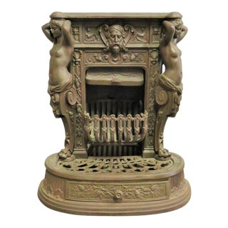 Figural Victorian Cast Iron Coal Stove For Sale