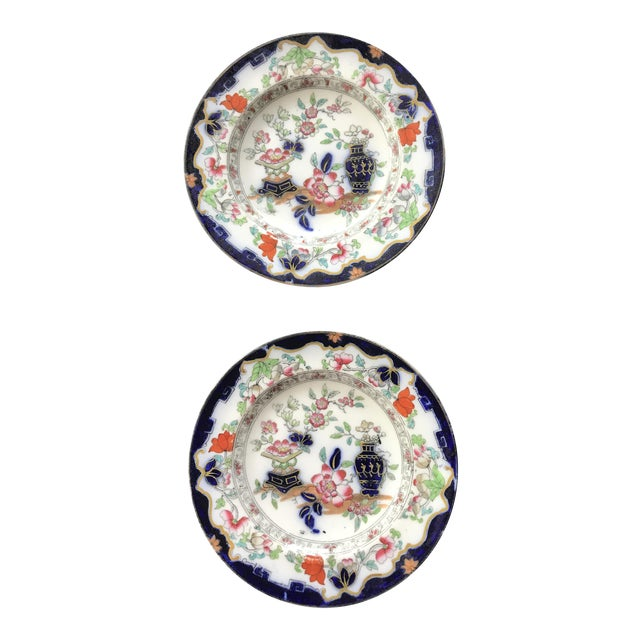 Minton Early English Plates - A Pair - Image 1 of 5