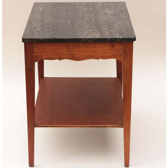 Portoro Black Marble and Mahogany SideTable For Sale In Madison - Image 6 of 11