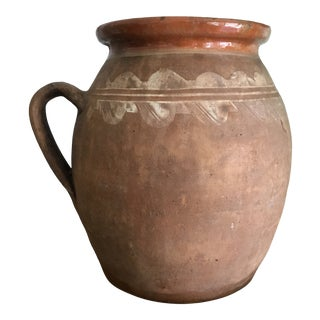Hungarian Vintage Clay Pitcher For Sale