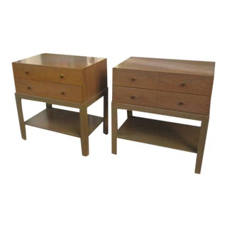 Mid-Century Nightstands in Bleached Walnut by Albert of Indiana