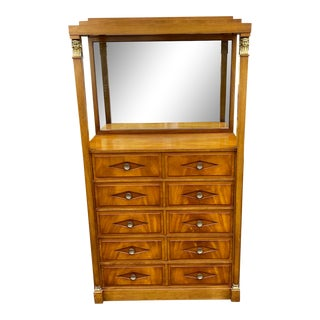 Grosfeld House Hollywood Regency Empire Coattail Bar or Dressing Chest of Drawers For Sale