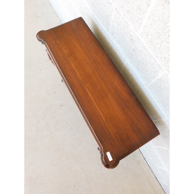 """Kittinger Georgian Style Mahogany Console Accent Table 38.25""""w For Sale In Philadelphia - Image 6 of 13"""