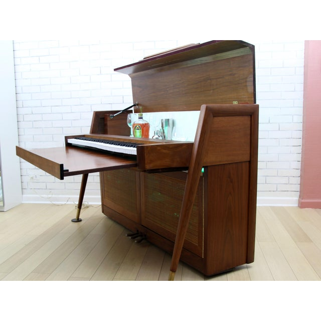 Baldwin Acrosonic Mid-Century Modern Piano Wine Bar With Storage