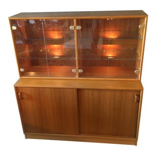 1960s Vintage Clausen & Son Teak Credenza and Hutch For Sale