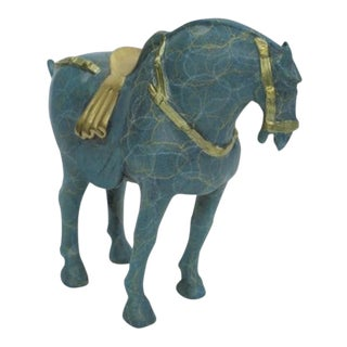 Chinese Tang Horse Bronze Sculpture For Sale