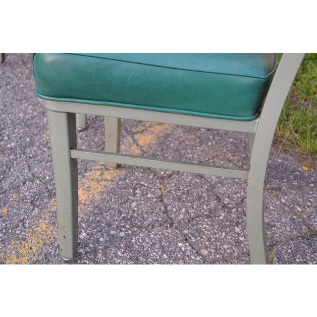 Green Steelcase Mid Century Office Chairs - Set of 4 For Sale - Image 8 of 8