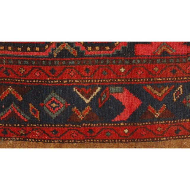 "Antique Persian Camel Rug - 4'4"" x 6'4"" - Image 3 of 4"