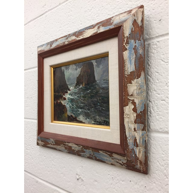 Framed & Signed Seascape Oil Painting - Image 8 of 10