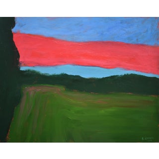 "2010s Abstract Painting, ""Sunset over Fields"" by Stephen Remick For Sale"