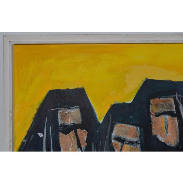 """1960s Vintage """"Good Habits"""" Oil Painting by W.J. Micka C.1962 For Sale - Image 5 of 10"""