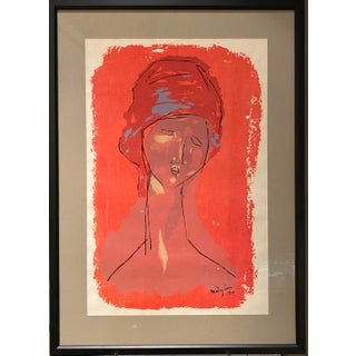 """Tete de Femme"" Serigraph After Modigliani For Sale"