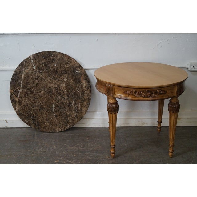 Jeffco Round Marble Top Regency Style Lamp Table For Sale In Philadelphia - Image 6 of 10