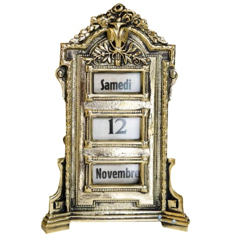 Antique French Perpetual Calendar - Image 1 of 5