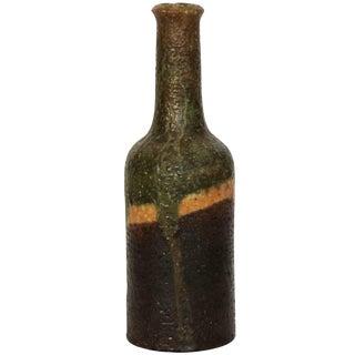 Marcello Fantoni Glazed Bottle For Sale