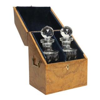 19th Century Liquor Decanters & Tantalus Box
