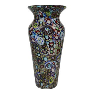 Late 20th Century Mid-Century Modern Murano Glass Vase For Sale