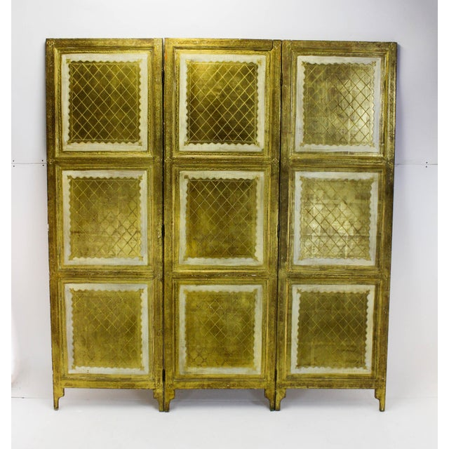 Vintage Florentine 3 Panel Screen - Image 8 of 11