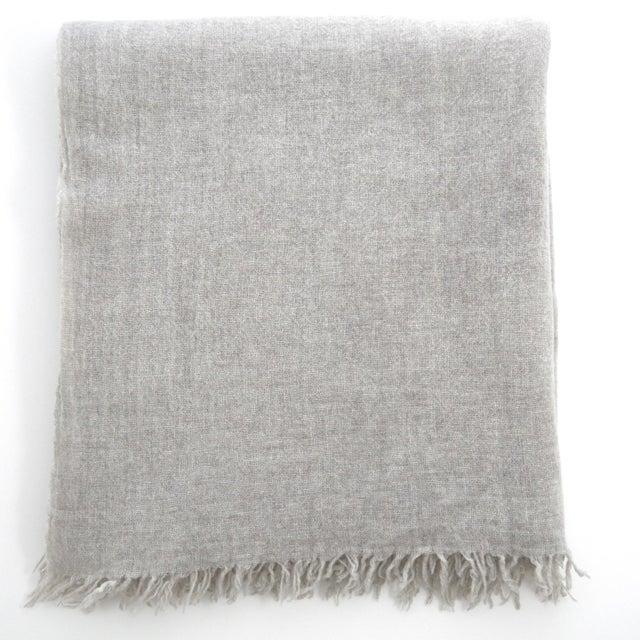 FirmaMenta Italian Ice Gray Gauze Throw For Sale - Image 11 of 11