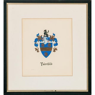"""Fairchild Coat-Of-Arms"" For Sale"