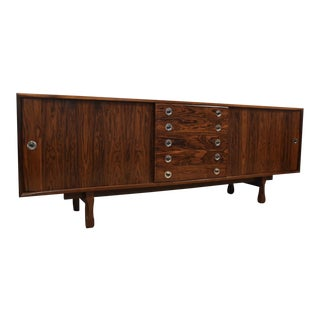 Ico Parisi Rosewood Italian Credenza For Sale