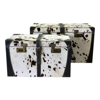 Egor Black & White Trunk Boxes - A Pair