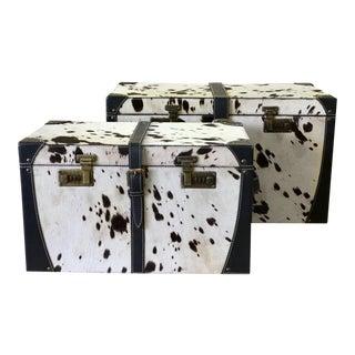 Egor Black & White Trunk Boxes - A Pair