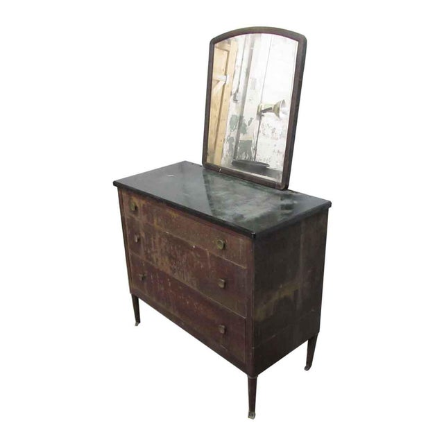 Metal Dresser With Mirror For Sale - Image 4 of 7