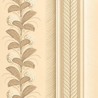 Sample - Schumacher Hydrangea Drape Wallpaper in Fawn For Sale
