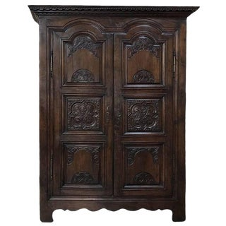 Early 18th Century Country French Louis XIV Period Armoire From Rennes For Sale