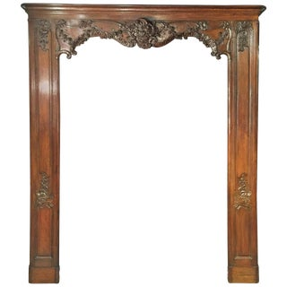 Antique French Boiserie Door Surround From the 1700s For Sale