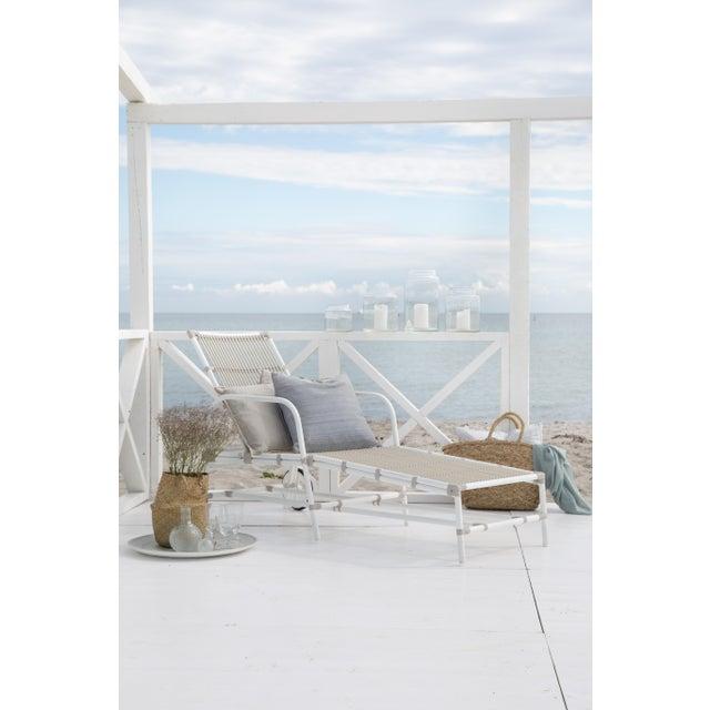Modern Josephine Exterior Sun Lounger - Dove White For Sale - Image 3 of 8