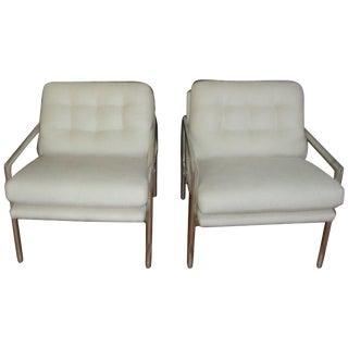 1970s Milo Baughman Aluminium Armchairs-a Pair For Sale
