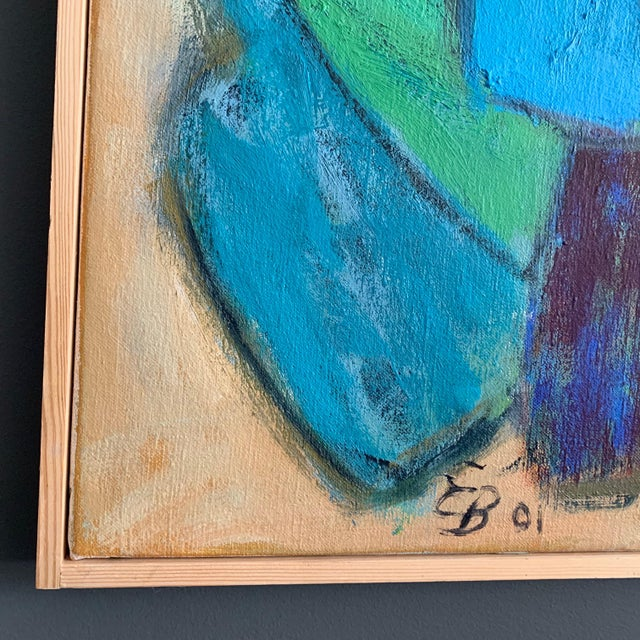 """Abstract """"Ravel"""" O/C by Eva Breyer, Danish, 2001 For Sale - Image 3 of 9"""