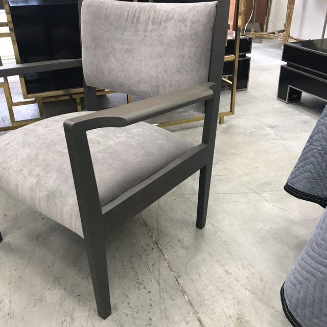 1950s Jens Risom Gray Velvet Armchairs - a Pair For Sale - Image 9 of 13
