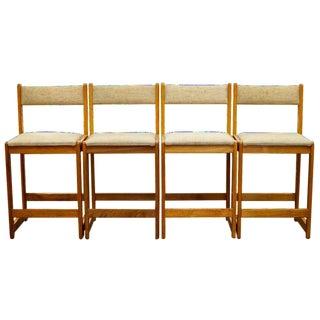 Mid-Century Modern Danish Teak Barstools - Set of 4