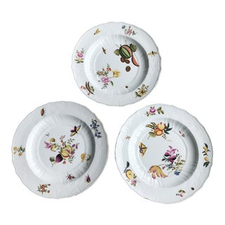 Chelsea House Hand Painted Decorative Plates - Set of 3 For Sale