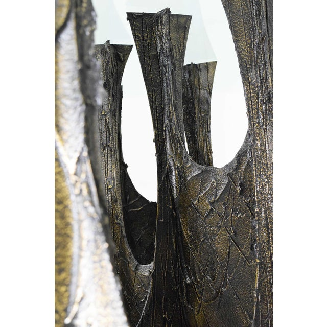 Paul Evans Brutalist Stalagmite Bronze and Resin Base Dining Table, 1972, Signed For Sale - Image 11 of 13
