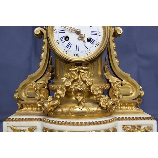 Early 19th Century Antique French Louis XVI Style Figural Clock For Sale In Charleston - Image 6 of 11