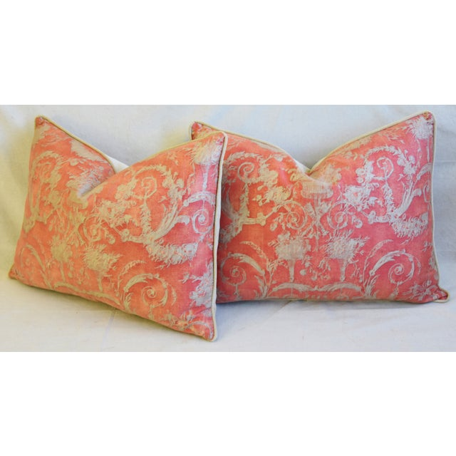 """Italian Fortuny Festoni Feather/Down Pillows 24"""" X 18"""" - Pair For Sale - Image 9 of 13"""