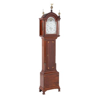 Early 19th Century English Traditional Tall Case Clock For Sale